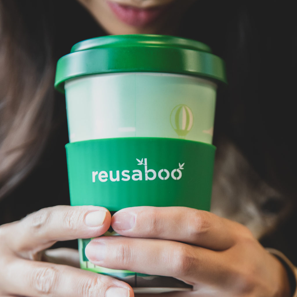 Reusaboo | Reusable Bamboo Coffee Cup | Forest Design