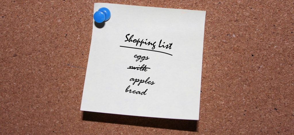 Shopping List On Pin Board | Reduce Food Waste | Reusaboo