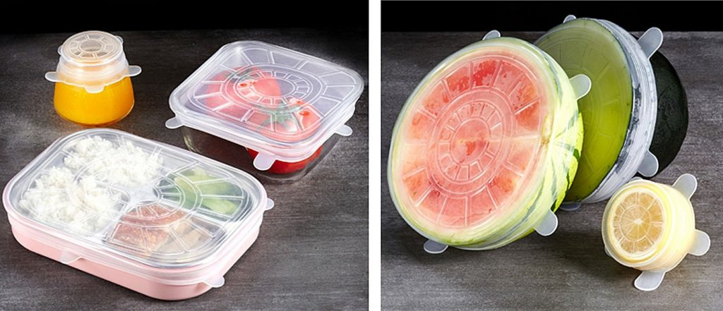 Stretchable Silicone Food Preservers | Reduce Food Waste | Reusaboo