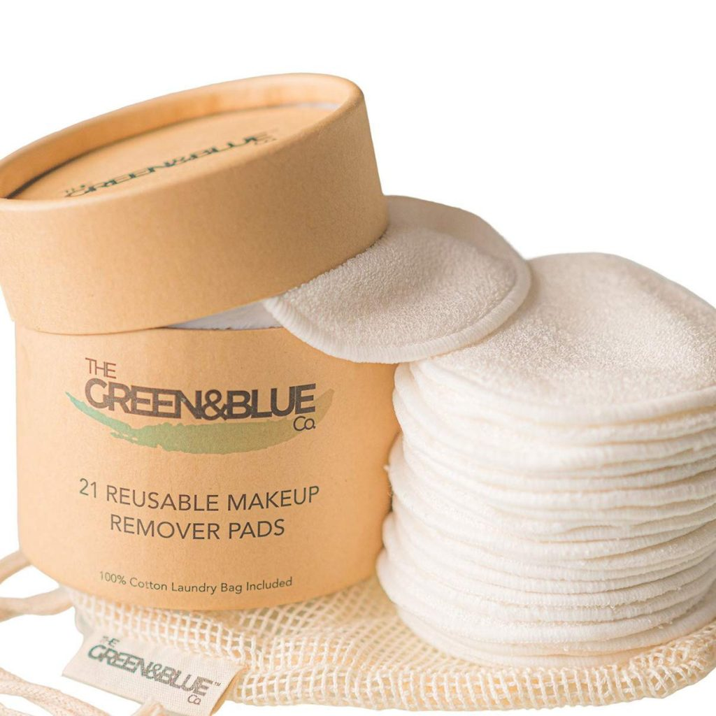 Green and Blue Reusable Make Up Wipes