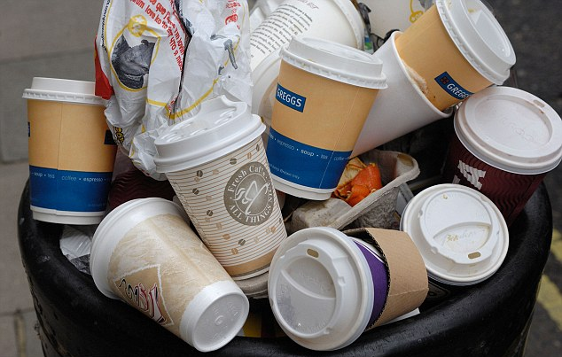 Disposable Coffee Cups Litter Bin | 6 Quick Tips To Reduce Waste Today | Reusaboo