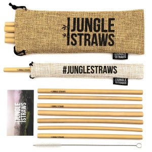 Jungle Straws Reusable Bamboo Straws