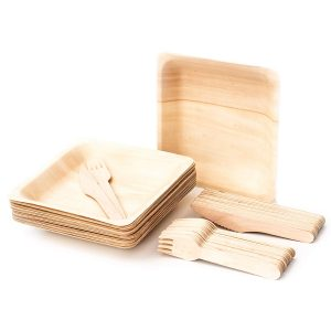 Palmero Concepts Disposable Bamboo Plates and Cutlery
