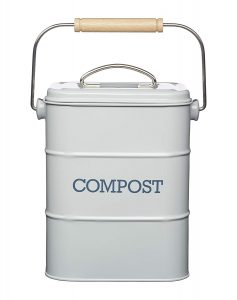 KitchenCraft Metal Kitchen Caddy Compost Bin