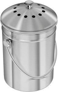 Stainless Steel Compost Bin For Kitchen Counter Top