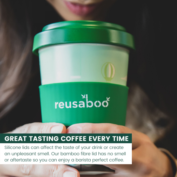 Reusaboo Bamboo Coffee Cup Great Taste Infographic