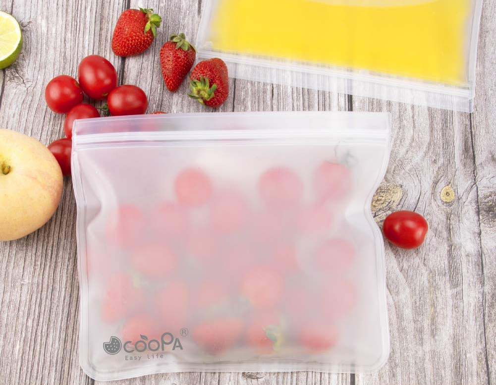 Reusable Silicone Food Storage and Freezer Bags | Reduce Food Waste | Reusaboo