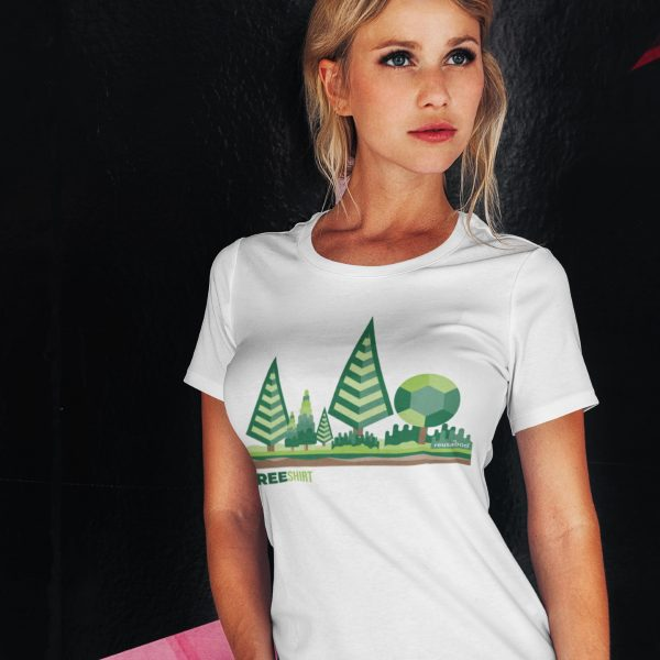 Tree Shirt Female Lifestyle White Square | Reusaboo