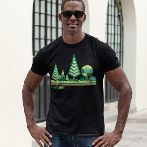 Tree Shirt Male Lifestyle Black Square | Reusaboo