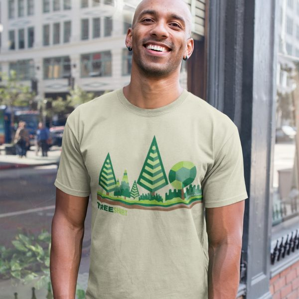 Tree Shirt Male Lifestyle Light Green Square | Reusaboo