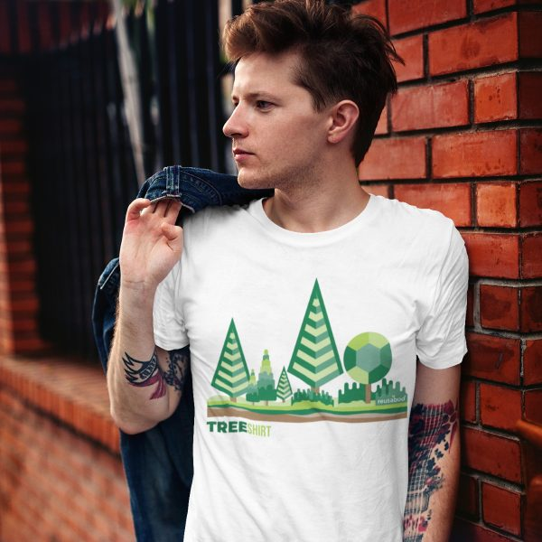 Tree Shirt Male Lifestyle White Square | Reusaboo