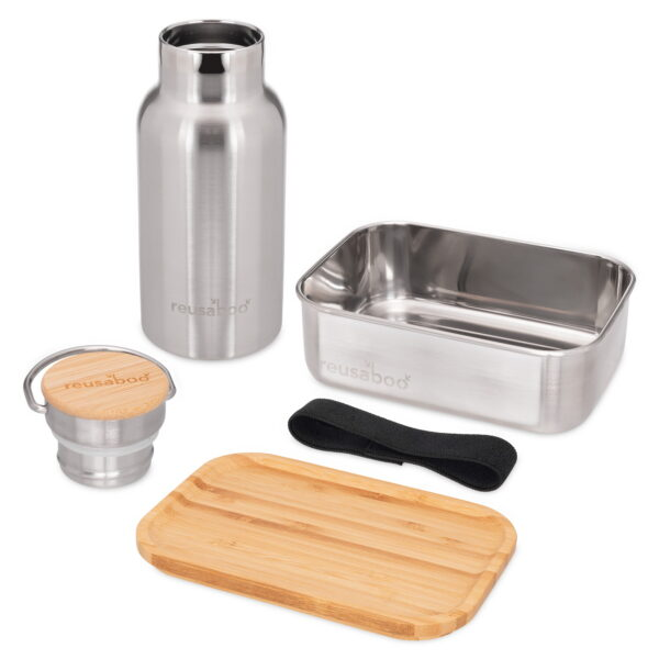 Reusaboo Stainless Steel Lunch Box and Water Bottle Set 2