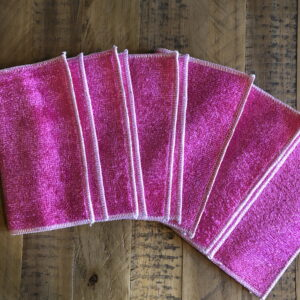 6 x Pink Bamboo Dish Cloths | Zero Waste | Eco Friendly