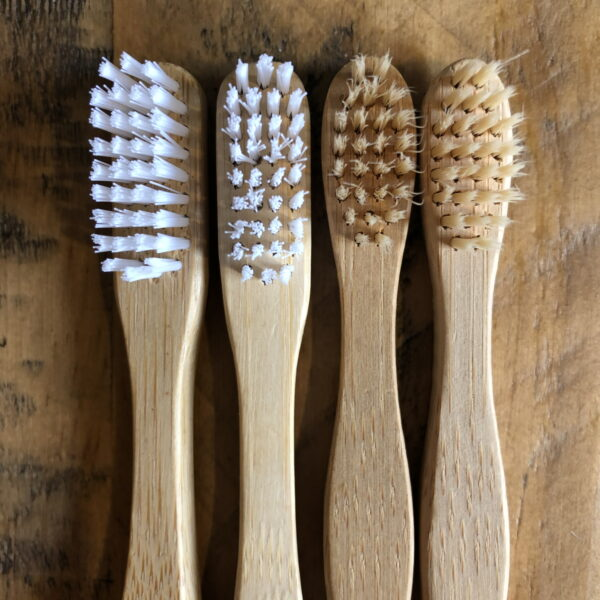 Adult and Child Bamboo Toothbrush Set | 2 x Adult and 2 x Child Bamboo Toothbrushes