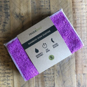 Bamboo Dish Cloths | Purple | Pack of 6