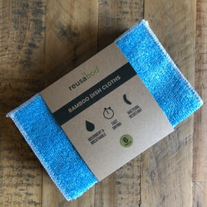 Bamboo Dish Cloths | Blue | Pack of 6