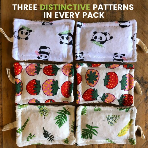 Reusaboo Natural Eco Sponges Three Distinctive Patterns in Every Pack